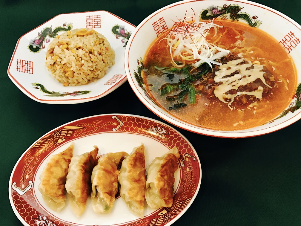 特選肉みそ担々麺<br>チャーハン・餃子セット1400円
