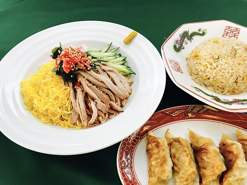 冷やし中華と炒飯・餃子セット
