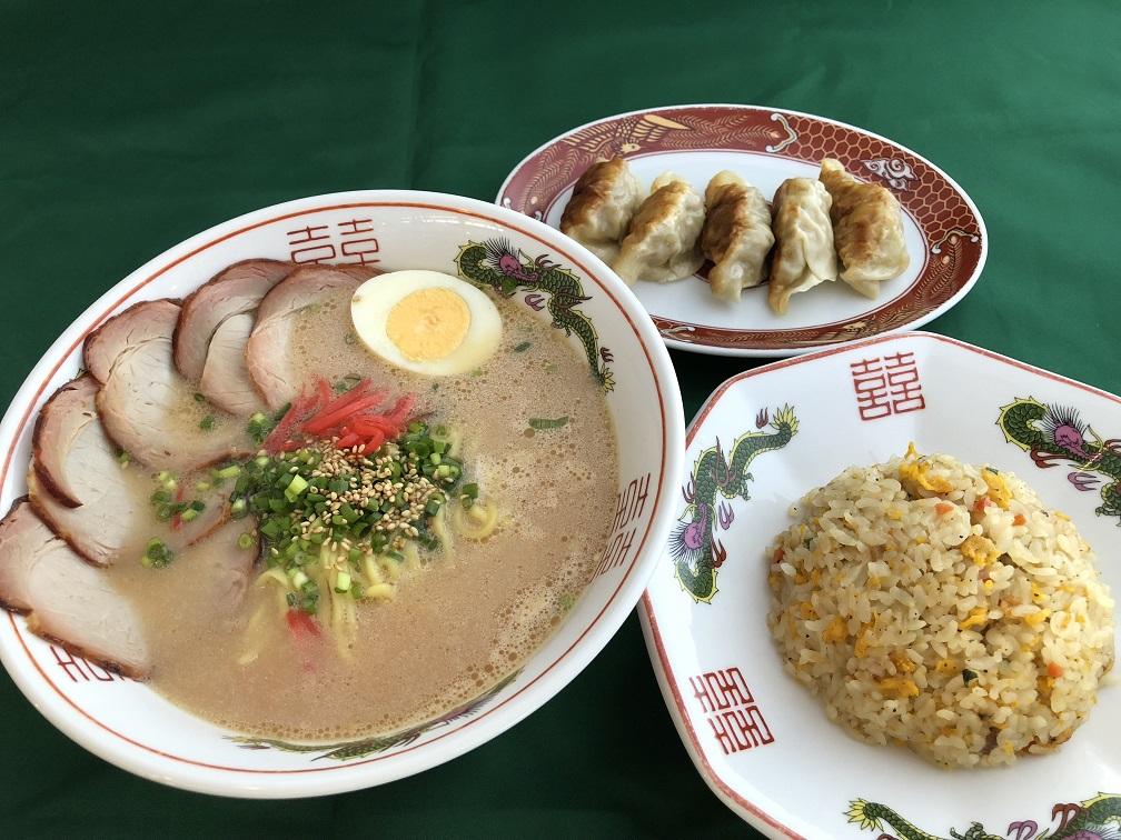 京風とんこつ醤油<br> チャーハン・餃子セット1500円